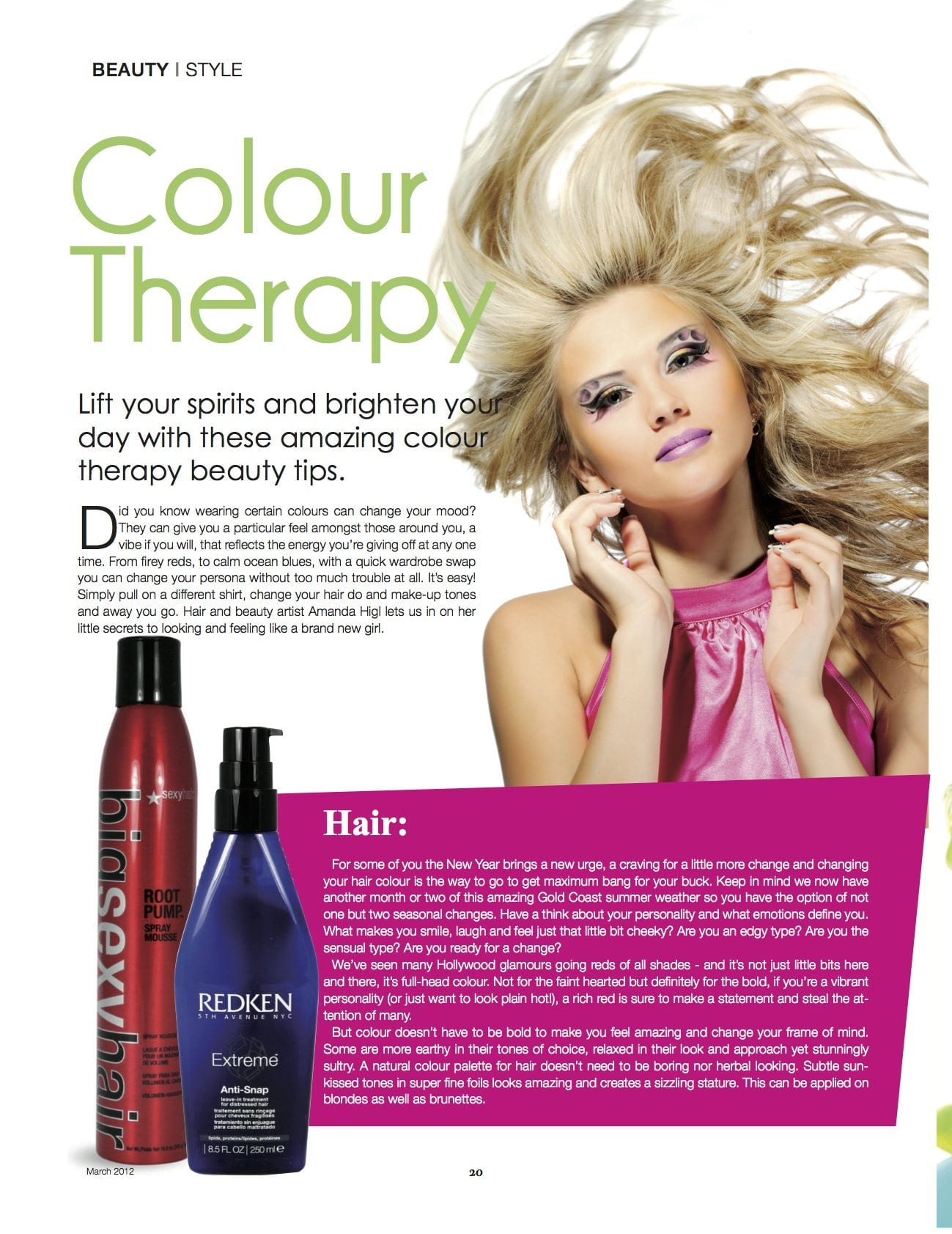 Colour therapy for beauty - Colour Therapy Article